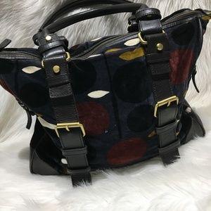 💋 Boden purse multi color dots velour handbag